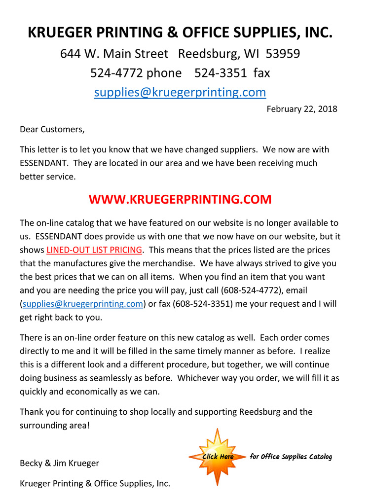 a9e88f1bfc3463 Online Catalog News – Krueger Printing and Office Supplies